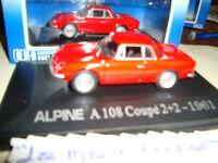 ALPINE RENAULT  A 108 COUPE 2+2 1961 ROUGE 1/43°  UNIVERSAL HOBBIES NEUVE