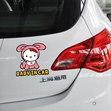 Fun&cute car decal/ sticker of Hello Kitty Baby In Car / Baby on Board baby girl