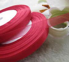 5m nastro vela organza rosso creazione couture 10 mm