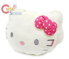 Sanrio Hello Kitty Head Cushion Pillow Face Plush Pink Bow  Auto Car accesories