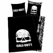 CALL OF DUTY BLACK OPS Crâne simple européen Set Housse de couette 100% coton