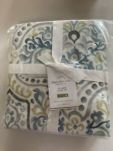 Pottery Barn Jessie Duvet Cover Set Blue Queen 2 Standard Shams 3pc