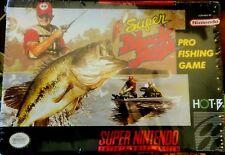 "SNES ""Super Black Bass"" Original Game 1992 *NEW Factory Sealed* Authentic"