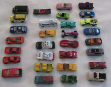Lot of 30 Diecast Toy Cars & Trucks Mattel, Hot Wheels, Lesney, Maitso, Play Art