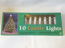 Vintage Mr Christmas String Christmas Tree Lights in Box 10 Clip On Candle