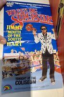 WWE WWF LJN Wrestling Superstars Poster Jimmy Hart rare hasbro