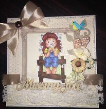 Handmade Magnolia Tilda Card Missing You