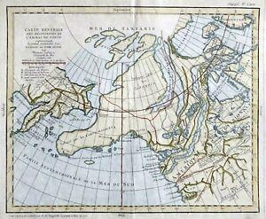 1772 Alaska, Bering Straight: Northwest Passage, by Diderot Robert de Vaugondy