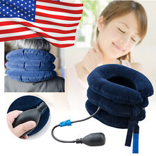 US Inflatable Cervical Neck Back Traction Head Stretcher Pain Relief Collar Care