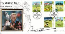 1994 Golf FDC - BRITISH OPEN TURNBERRY DEFENDING CHAMPION Signed by Greg Norman