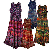 Indian Print Long Dress Size Free Waist Maxi Usa Broomstick Women Naptol Soft