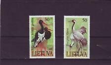 LITHUANIA - SG498-499 MNH 1991 BIRDS - CRANES & BLACK STORKS