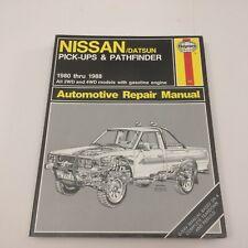 Haynes Manual Nissan Datsun Pickups & Pathfinder 80-88 2WD 4WD Gas Engine