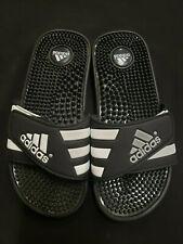 Used Mens Adidas Adissage Black/White Slides Shower Sandal Athletic Sport Size 5