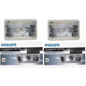 2 pc Philips High Low Beam Headlight Bulbs for Dodge Caravan Dakota Daytona pv