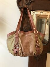 Marco Buggiani Made In Italy GENUINE Leather MOC CROC Shoulder Bag Purse