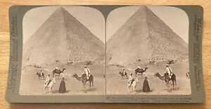 King Khufu's Tomb Great Pyramid of Giza, Sepulchers – Egypt – Stereoview – 1902