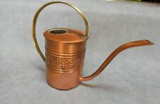 FRENCH Vintage Brass & COPPER WATERING CAN w/ LYS