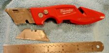 MILWAUKEE BRAND FASTBACK UTILITY KNIFE 48-22-1901 BELT CLIP, BUTTON LOCK GOOD