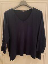 DW Bio Shop * Tunika LA Shirt Sweat * uni blau * V Auss * 56 58 * Neuw Ulla Mode