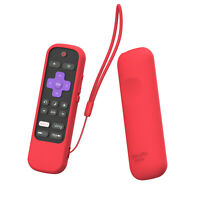 For Sharp Roku TV Voice Remote and Mute Button Anti-Lost Silicone Case Cover
