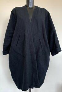 (SHP) Maria Cornejo Black Pancho/Coat Size SM