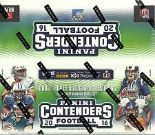 2016 Panini CONTENDERS Football NFL Trading Cards New Sealed 24pk Retail Box