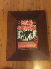 Radio Birdman Poster Framed In Jarrah Timber With Admission Pass 2002 Tour