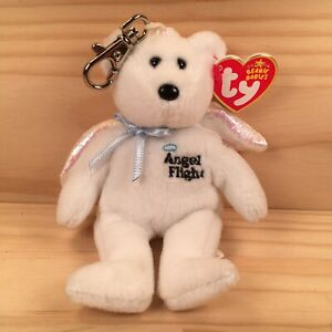 "ANGEL FLIGHT ""Alpha"" Gorgeous Little Soft Toy Keyring Teddy Bear Friend (TY)"