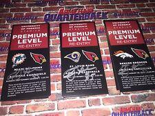 Anthony Sherman autographed Arizona Cardinals Premium Level Pass vs Dolphins