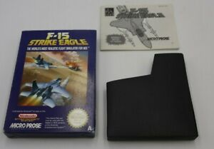 F-15 Strike Eagle Nintendo NES Boxed PAL - BOX AND MANUAL ONLY - NO CARTRIDGE