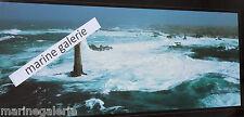 Phare breton tempête déco mer Ouessant poster photo couleurs panoramique 67cm