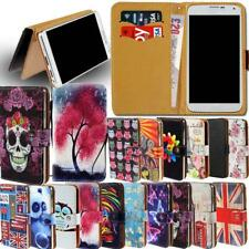 Leather Smart Stand Wallet Cover Case For Micromax Canvas Smartphones