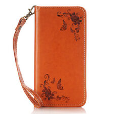 Luxury PU Leather Wallet Card Holder Flip Cover Stand Case For Sony Xperia / HTC