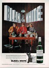 1963  Black & White scotch whisky buchanan's  Scotland  Magazine PRINT AD **