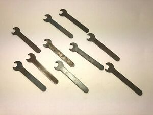 10 ORIGINAL REVELL SLOT CAR WRENCHES from the 1960's