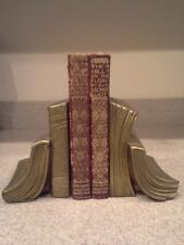 Vintage Brass Metal Bookends - shaped as books