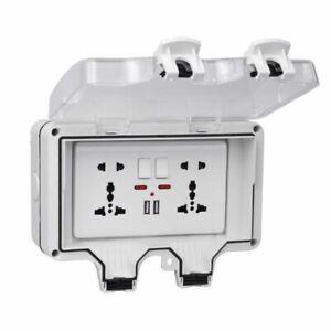 Waterproof Outdoor Box Power Supply Socket Ip66 Universal Switch Usb Port Case