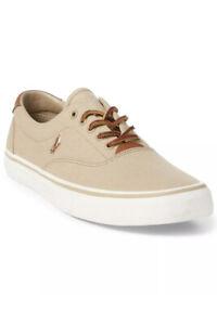 Polo Ralph Lauren Men's Canvas Thorton Sneakers Size 9D .