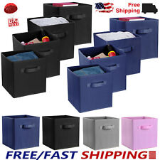 4PCS Foldable Storage Cube Basket Bins Organizer Closet Container Fabric Drawers