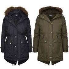 Manteaux, vestes et tenues de neige noir résistant à l'eau en polyester pour fille de 2 à 16 ans