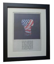KLF+America What Time Is Love+POSTER+AD+ORIGINAL 1992+FRAMED+EXPRESS GLOBAL SHIP