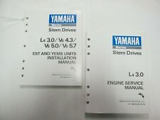 1990 Yamaha Stern Drives L4 3.0 Engine Service Manual W/ Installation Manual Set