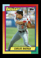 1990 CARLOS  BAERGA TOPPS TRADED ROOKIE CARD RC #6T Indians SET BREAKS