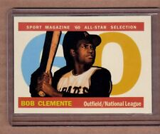 Roberto Clemente Sport Magazine All Star card by Bob Lemke 1960 style #579