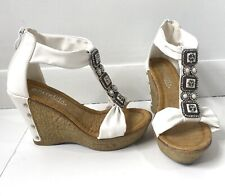 Patrizia By Spring Step Pegacon Wedge Shoe Size 36 White