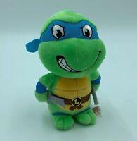 """TY Leonardo Teenage Mutant Ninja Turtle Beanie Plush Stuffed Animal 6"""" I"""