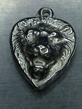 New listing Lion Puffy Heart Legitimate Sterling 925 Solid Silver