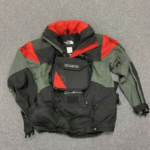Vtg The North Face Steep Tech Scot Schmidt Red Black Gray Jacket Chest Pack MED