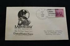 NAVAL COVER 1938 SHIP CANCEL LABOR DAY USS LOUISVILLE (CA-28) (4928)